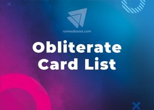 Obliterate Cards List LoR