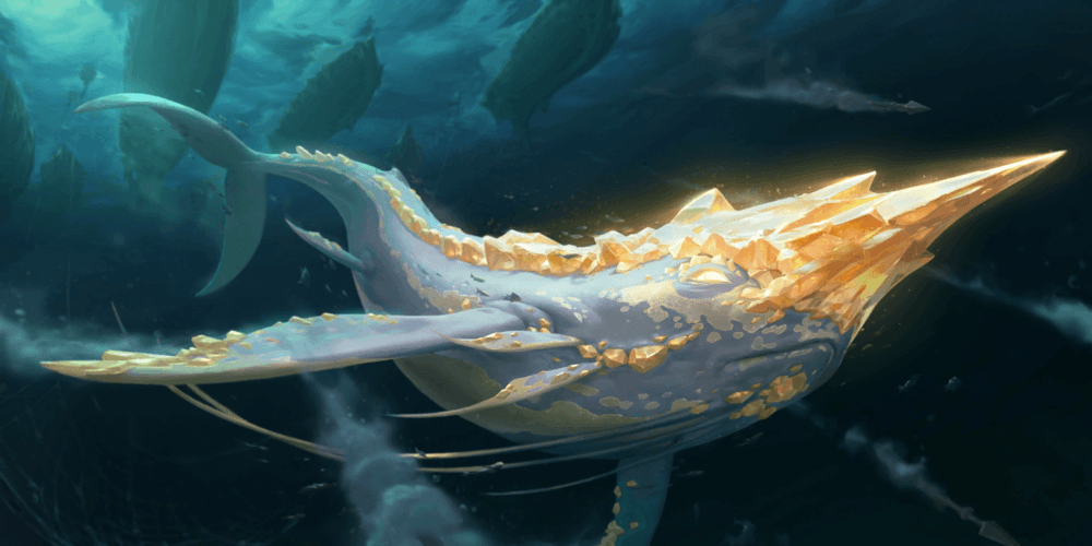 LoR Golden Narwhal  Artwork