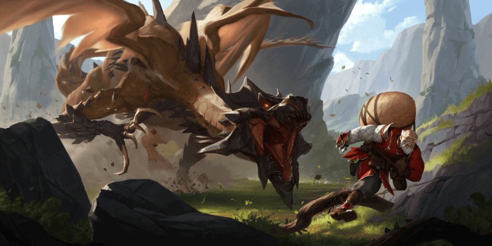 LoR Screeching Dragon Artwork
