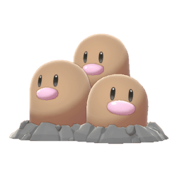 Pokemon Sword and Shield Dugtrio