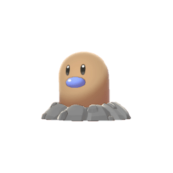 Pokemon Sword and Shield Shiny Diglett