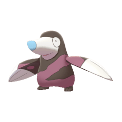 Pokemon Sword and Shield Shiny Drilbur