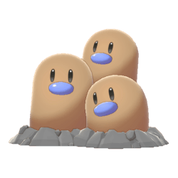 Pokemon Sword and Shield Shiny Dugtrio