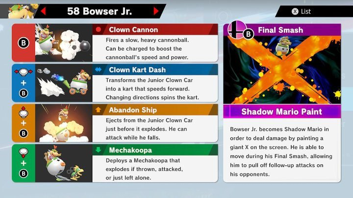 SSBU Bowser Jr. Moves