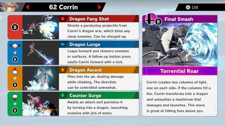 SSBU Corrin Moves