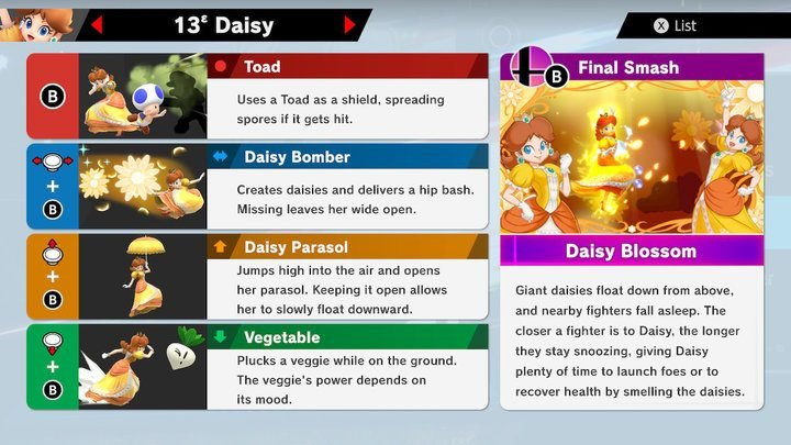 SSBU Daisy Moves