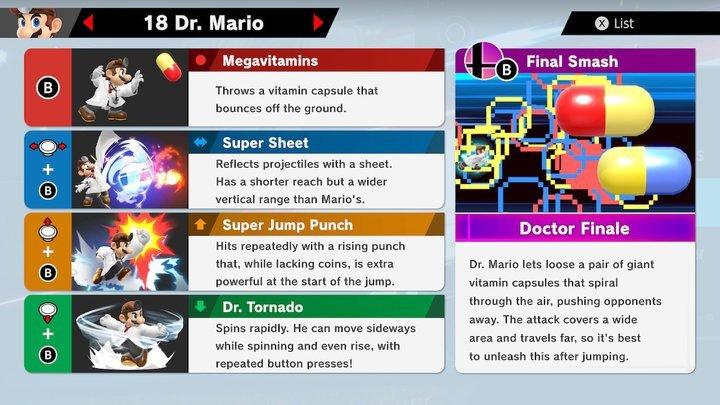 SSBU Dr. Mario Moves