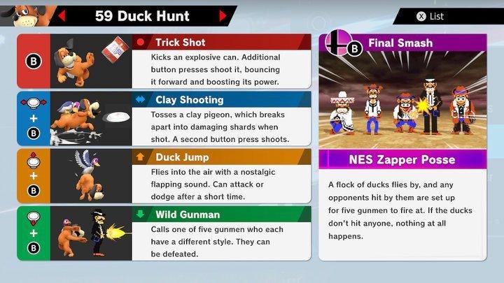 SSBU Duck Hunt Moves