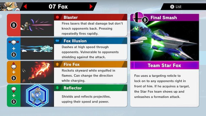 SSBU Fox Moves