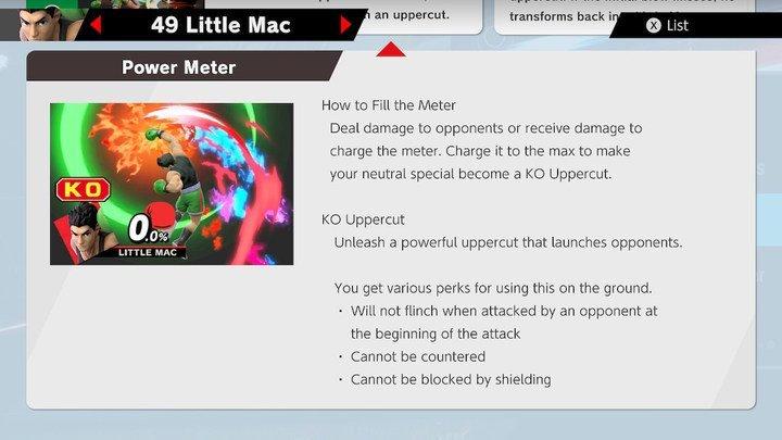 SSBU Little Mac Moves