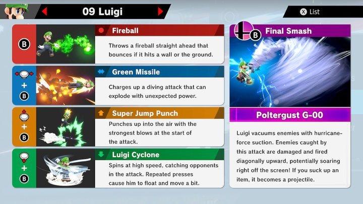SSBU Luigi Moves