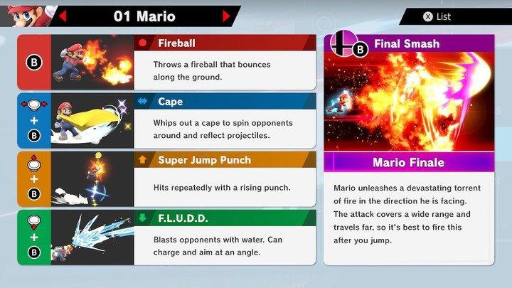 SSBU Mario Moves