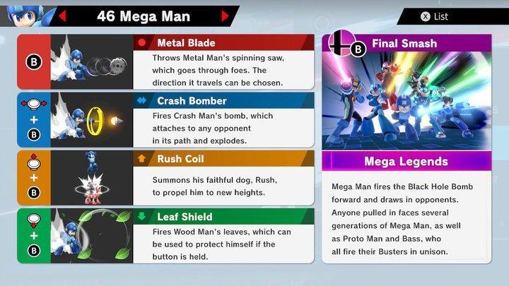SSBU Mega Man Moves