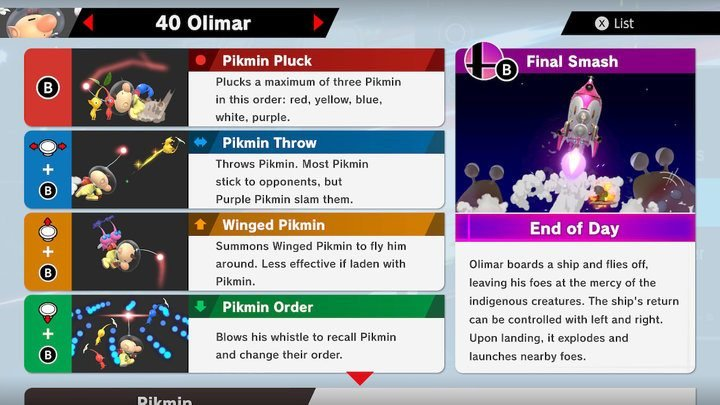 SSBU Olimar Moves