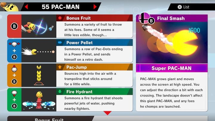 SSBU Pac Man Moves