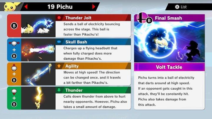 SSBU Pichu Moves