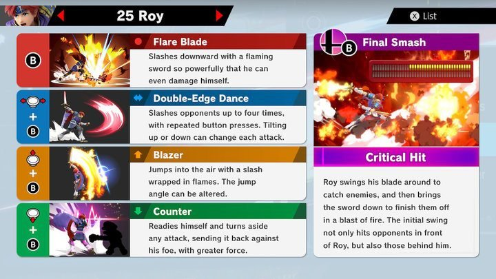SSBU Roy Moves
