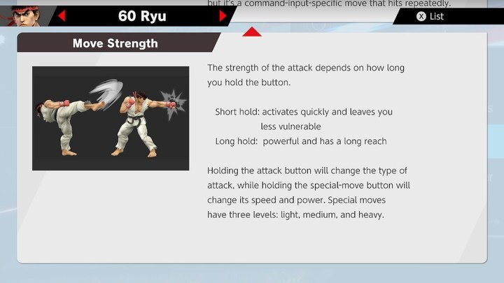 SSBU Ryu Moves