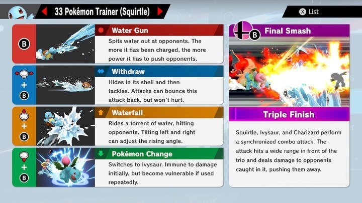 SSBU Squirtle Moves