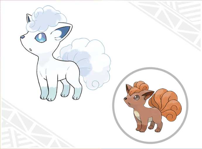 Alolan Vulpix Pokemon Sun & Moon