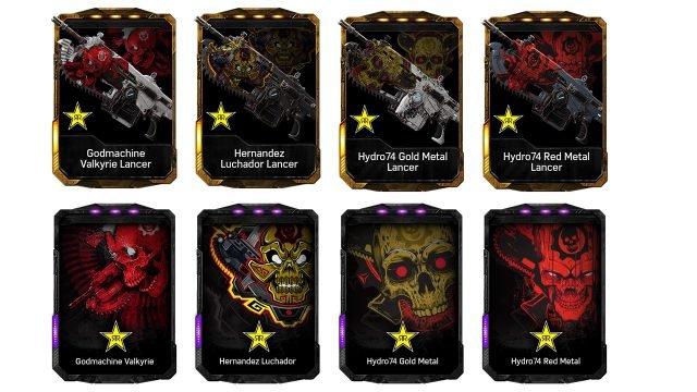 Gears 4 Skins Rockstar