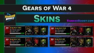 Gears of War 4 Weapon Skin & Character Skins