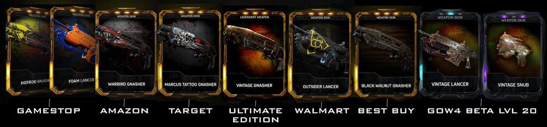 Gears of War 4 Weapon Skins