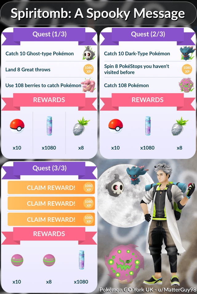 Pokemon GO Halloween Event 2018 Special Research