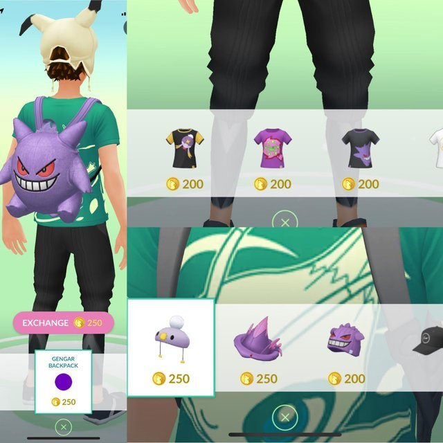Pokemon Go 2018 Halloween Items Clothing