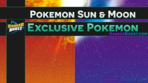 Pokemon Sun and Moon Version Exclusive Pokemon