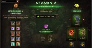 Diablo 3 Season Start and End Rewards
