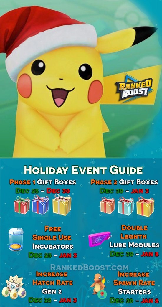 Pokemon Go Christmas Event 2019 Pokemon GO Christmas Event Guide • New Years Item Pack Gift Boxes