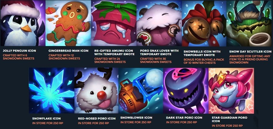 Snowdown Event Guide Lol 2016 Skins Summoner Icons Chests
