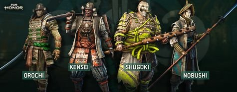 For Honor Samurai Heroes