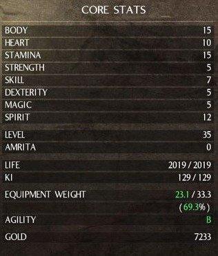 Nioh-Stats