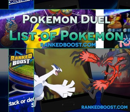 Pokemon-Duel-List-of-Pokemon