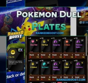 Pokemon Duel Plates