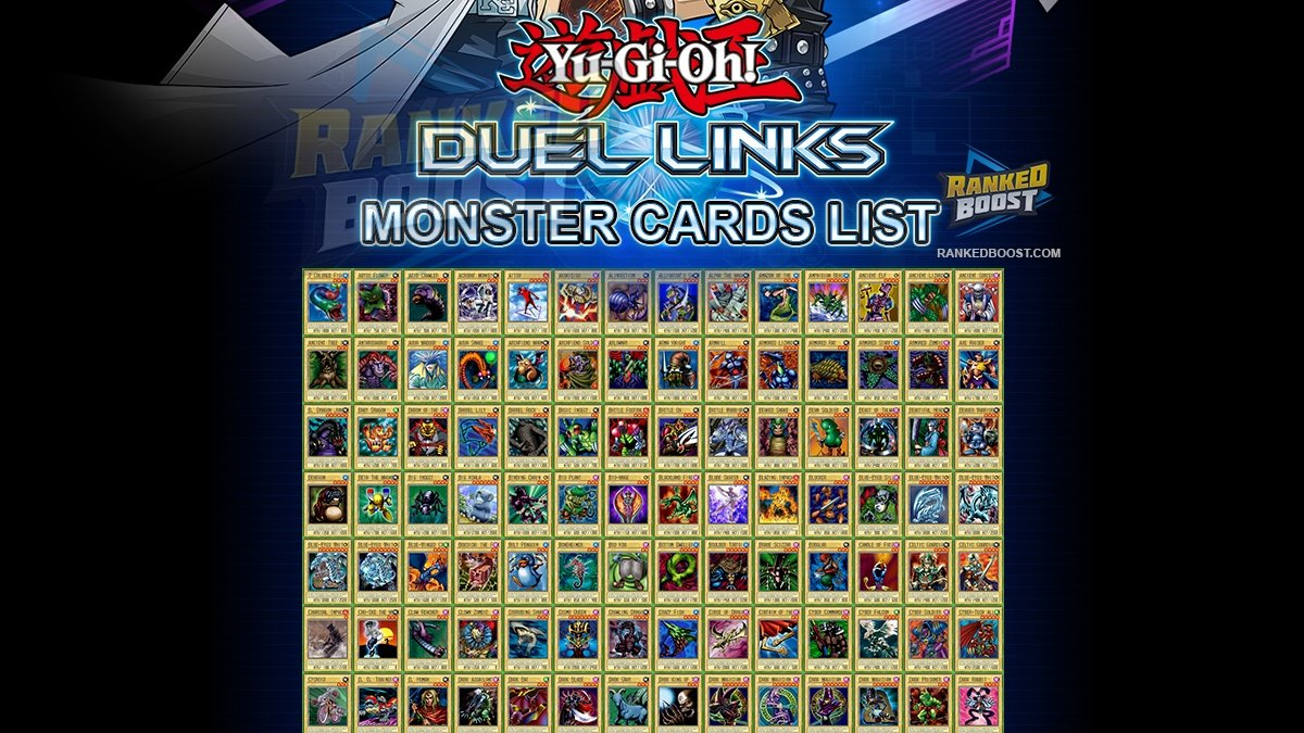 Yu Gi Oh Duel Links Monster Card List | All Monster Cards In