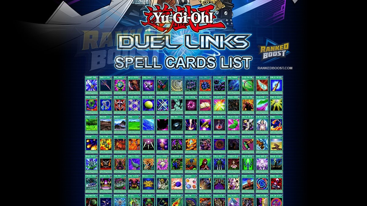 Yu Gi Oh Duel Links Spell Card List | All Spell Cards In