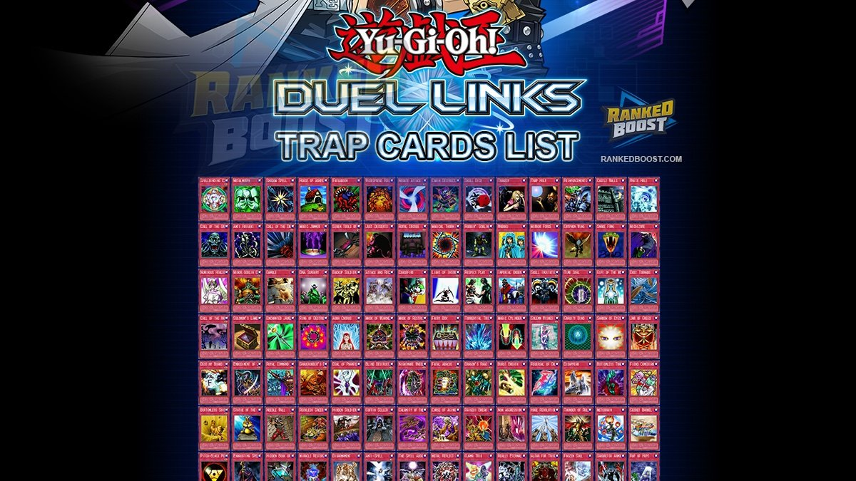 Yu Gi Oh Duel Links Trap Card List | All Trap Cards In Duel