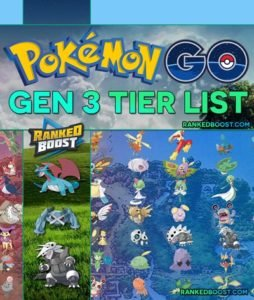 Pokemon GO Generation 3 MAX CP Tier List | Best Gen 3 Pokemon