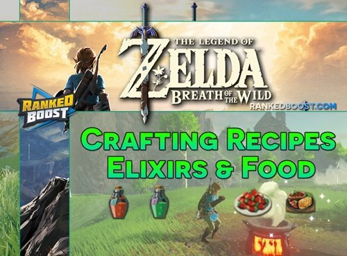 zelda breath of the wild crafting recipes food cooking ingredients
