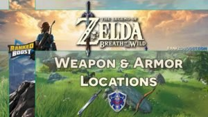 Zelda Breath of the Wild Weapon and Armor Locations