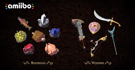 Amiibo-Materials-and-Weapons