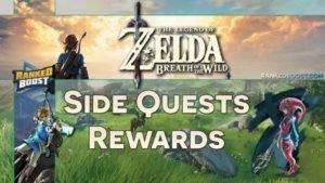 Zelda Breath of the Wild Side Quests | Rewards