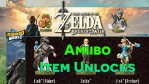Zelda Breath of the Wild Amiibo Item Unlocks