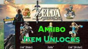 Zelda Breath of the Wild Amiibo Item Unlocks