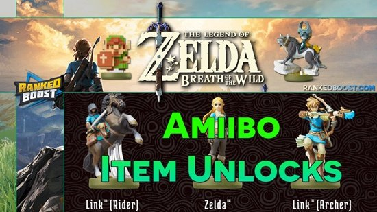Zelda Breath Of The Wild Amiibo Unlocks List Of New Zelda Amiibo Items