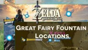 Zelda Breath of the Wild Great Fairy Fountain Locations
