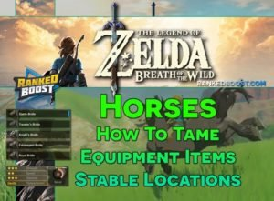 Zelda Breath of the Wild Horse Stables